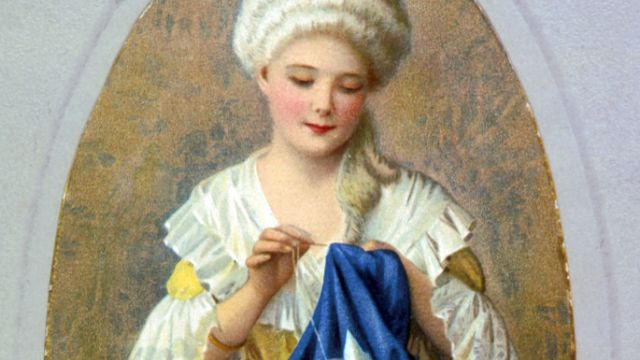 Betsy Ross Sews The Stars And Stripes