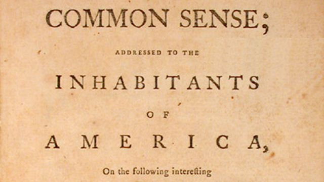 Thomas Payne's Pamphlet CommonSense
