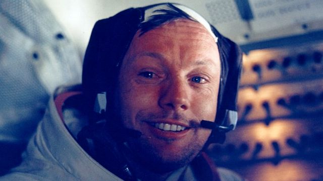 Neil Armstrong Back In The Command Module