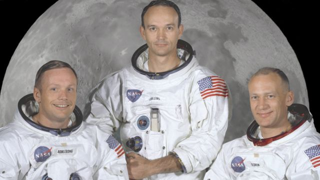 The Crew Of Apollo 11 - Neil Armstrong, Michael Collins and Buzz Aldrin