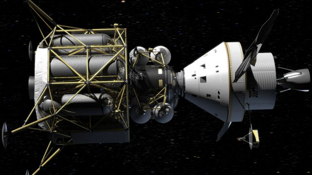 The Command Module And Lunar Module Dock