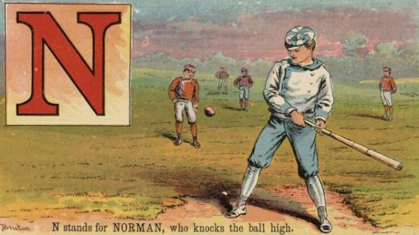N stands for NORMAN, who knocks the ball high