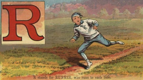R stands for RUNNER, who runs to each base