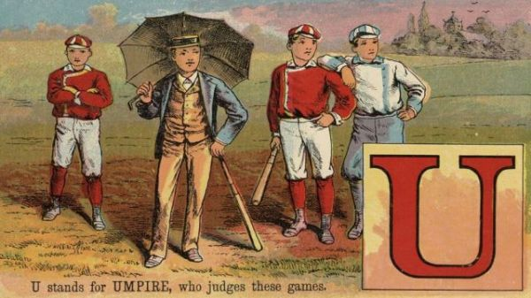 U stands for UMPIRE, who judges these games