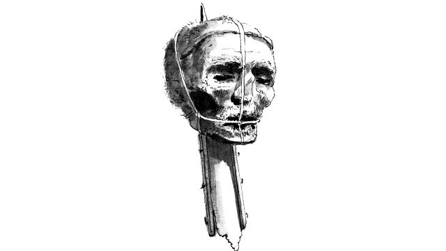 Oliver Cromwell's Head On A Spike