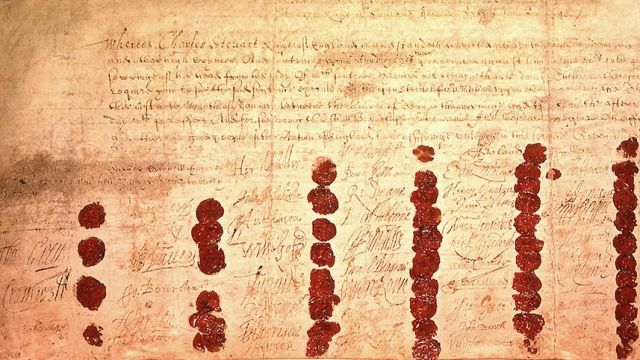 Charles I's Death Warrant