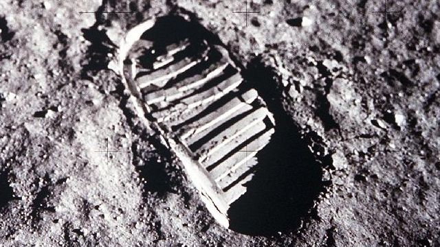 A Boot Print On The Moon