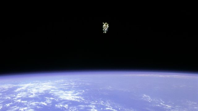 Bruce McCandless Performing The Untethered Space Walk