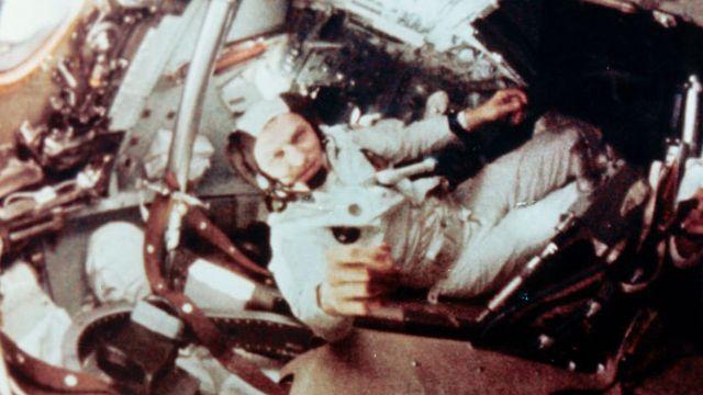 Frank Borman Inside Of Apollo 8