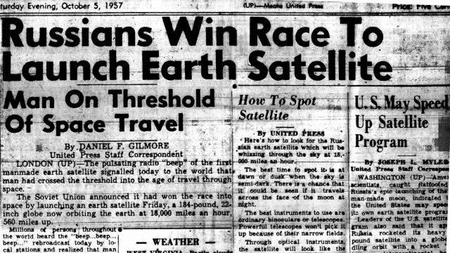 Newspaper Announcing Sputnik