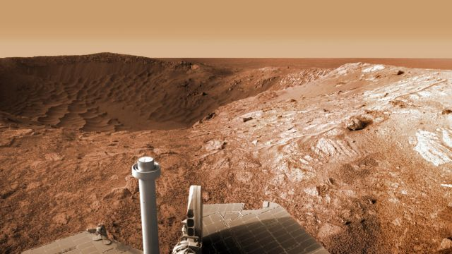 Opportunity At The Santa Maria Crater