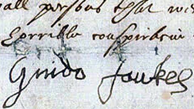 Guy Fawkes Signature On His Confession