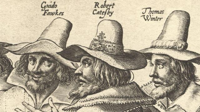 The Gunpowder Plot Conspirators, Guy Fawkes, Christopher Wright,Robert Catesby and Thomas Wintour