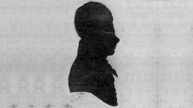 Silhouette Of Edward Lear As A Boy