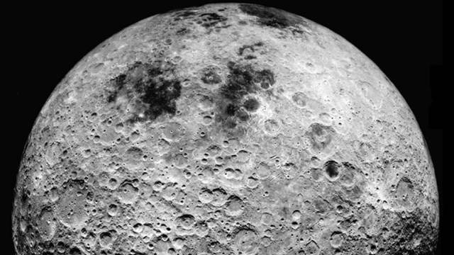 Photograph Of The Dark Side Of The Moon Taken By Apollo 16