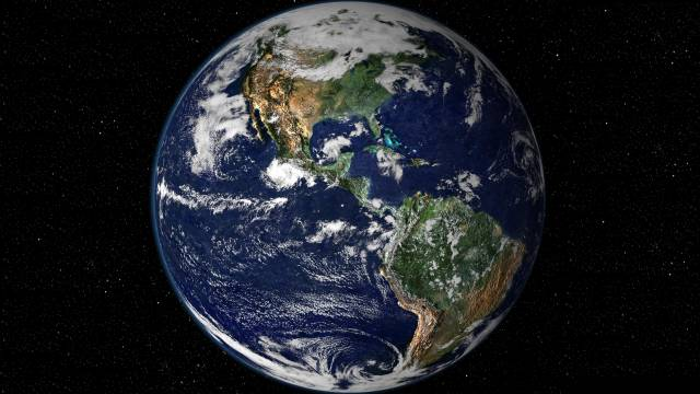 A Photograph Of Earth From Space