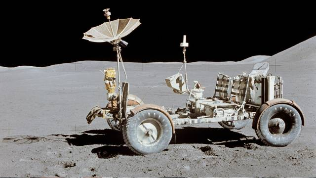 The Lunar Rover As Left Parked When Apollo 15 Returned To Earth