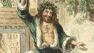 Santa Claus Dressed In Green