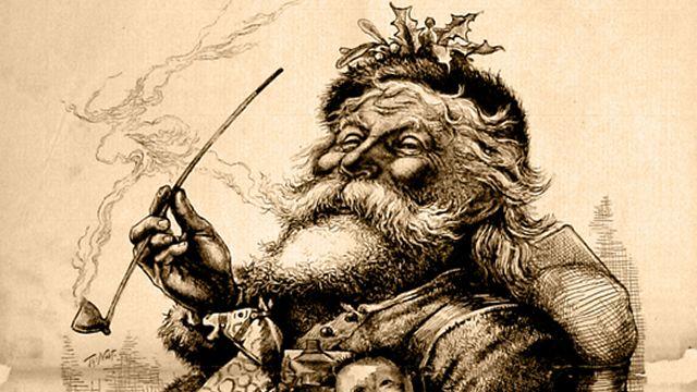 Thomas Nast's Later Santa Claus