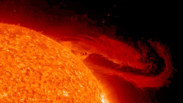 Sun Showing A Solar Flare