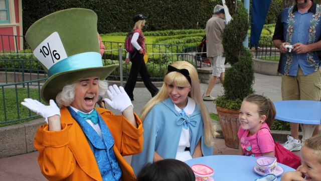The Mad Hatter And Alice At Disneyland