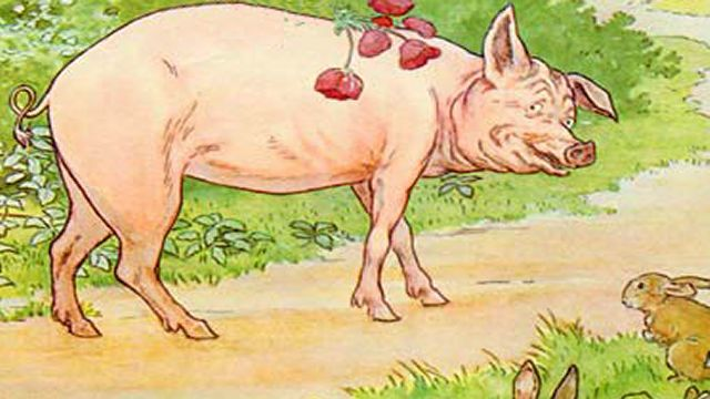 A Happy Pig Looking At You Illustrated By L. Leslie Brooke