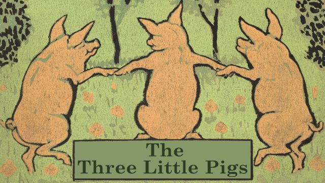 Title Page For The Story Of The Three Little Pigs