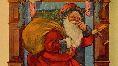 Santa Claus Touching Nose
